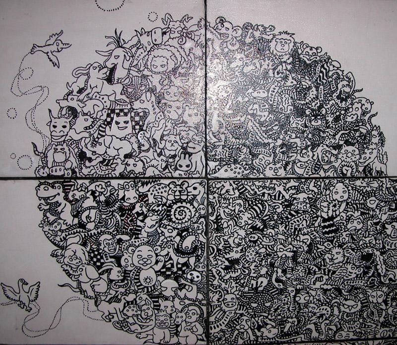 迷藏系列漫客熊插画2